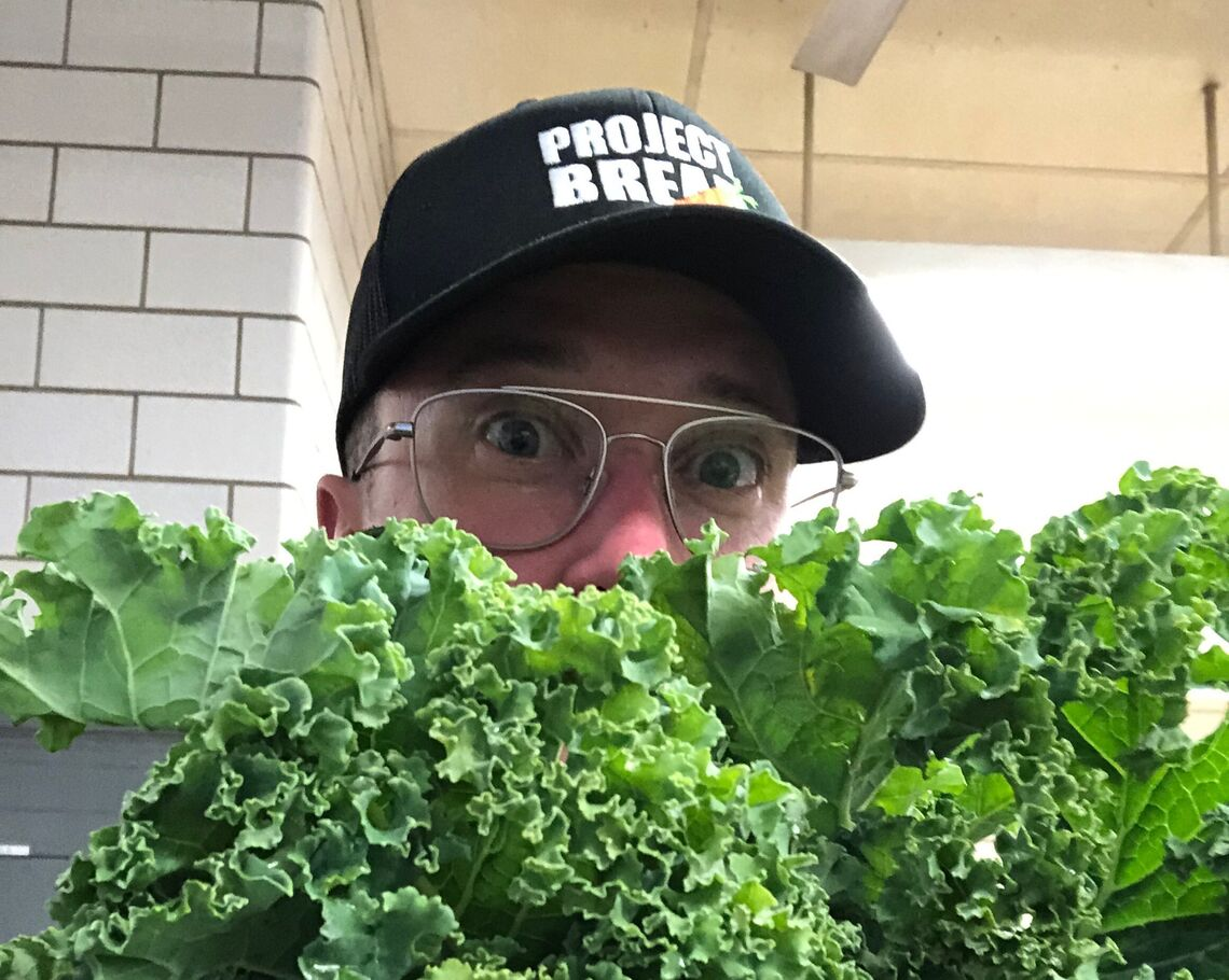 person with kale