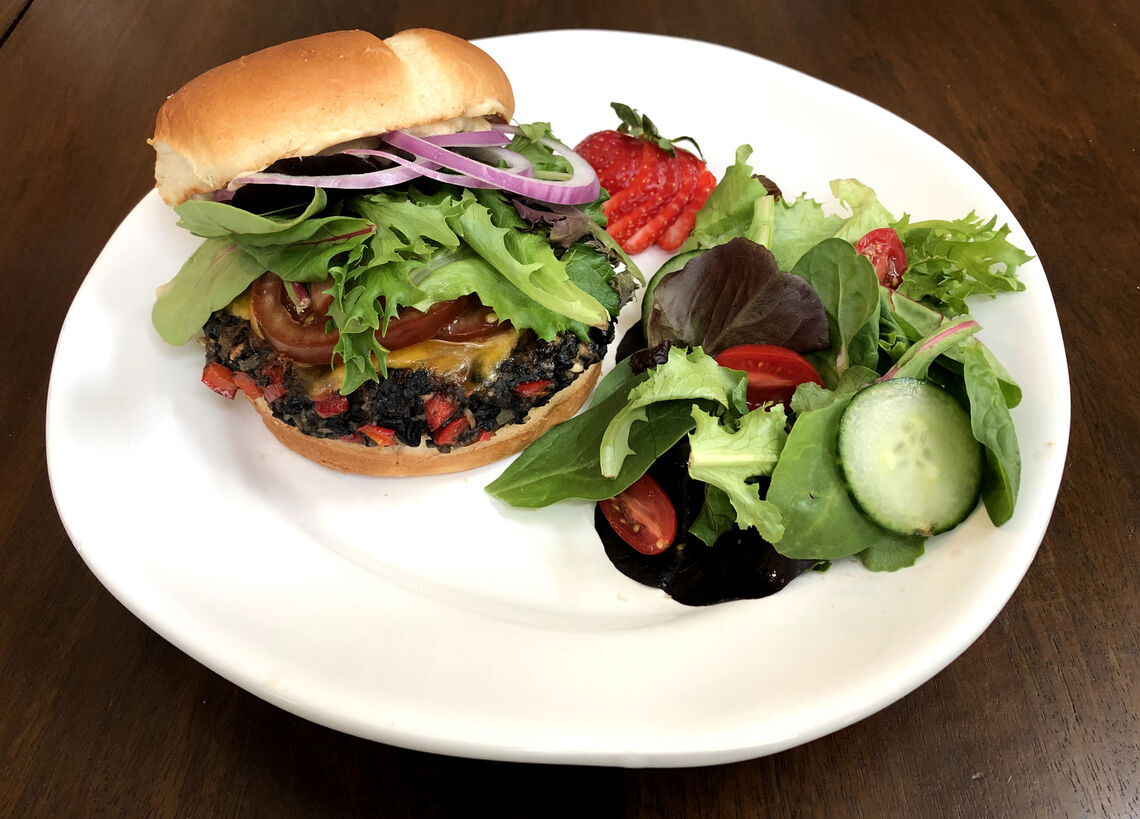 smokey vegetarian black bean burger