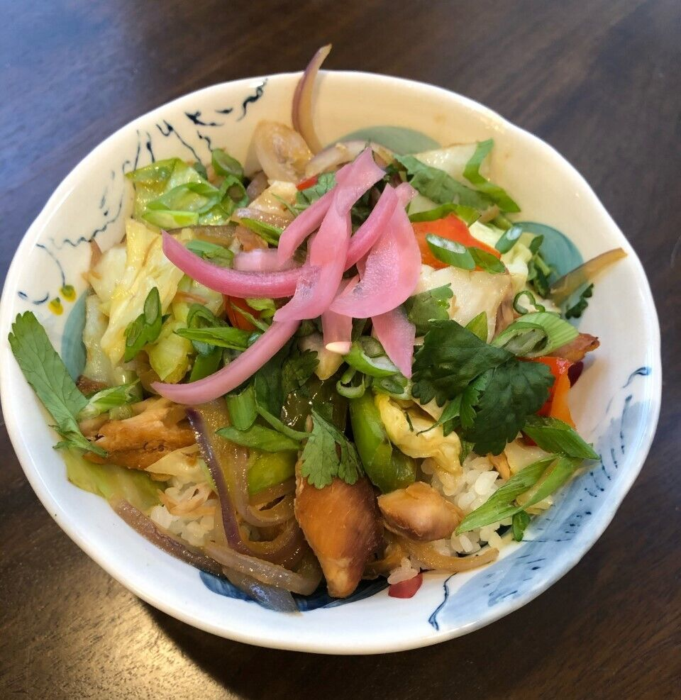 Project Bread school lunch recipe, soy ginger chicken rice bowl