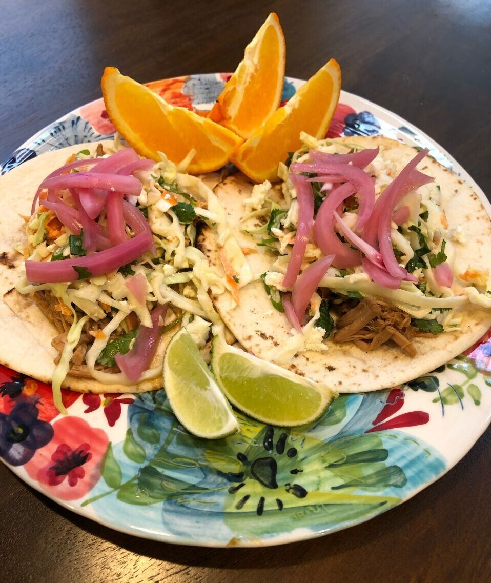 Project Bread school lunch recipe, soy-ginger chicken rice tacos