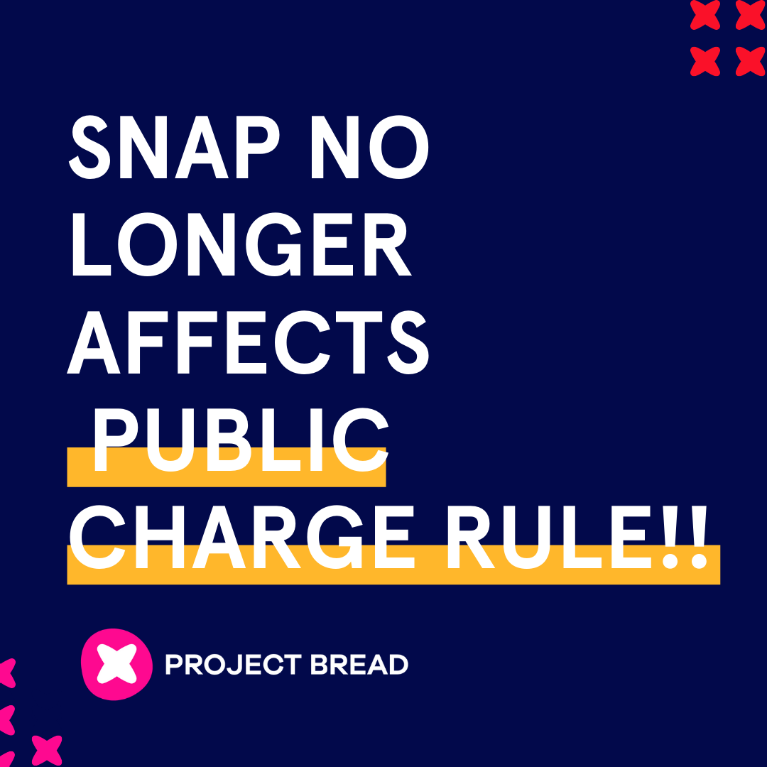 SNAP no longer affects Public Charge Rule
