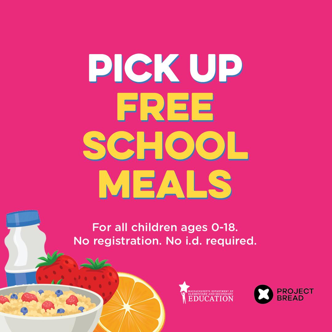 pick up free school meals