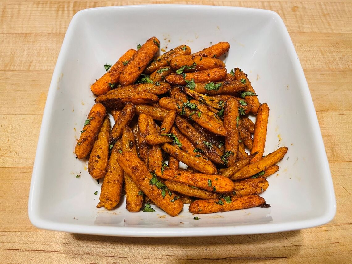 north african spiced baby carrots