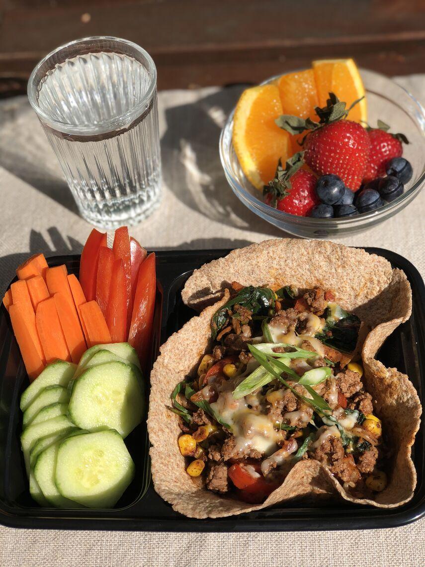 Less-Meat Veggie & Beef Burrito